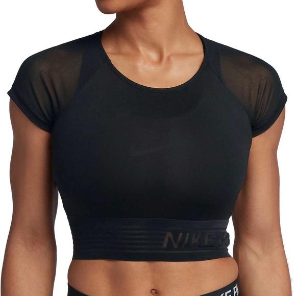 61e9569e5c46c Nike Tops | Nwt Pro Mesh Crop Top Size Small | Poshmark